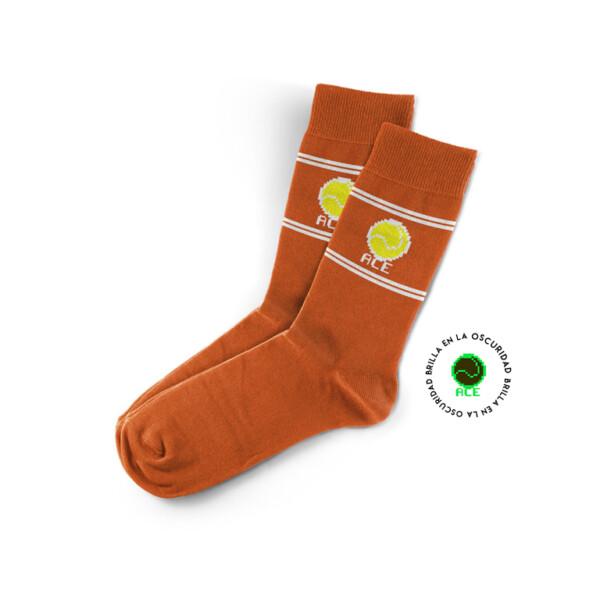 Calcetin Tenis Naranja