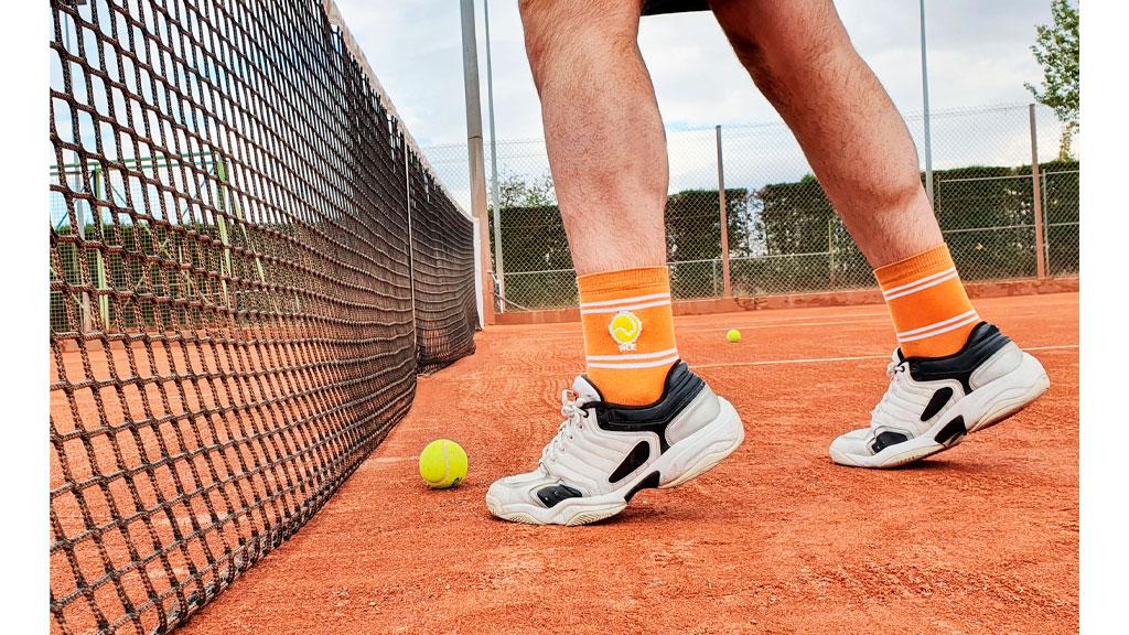 Calcetín Tenis Naranja
