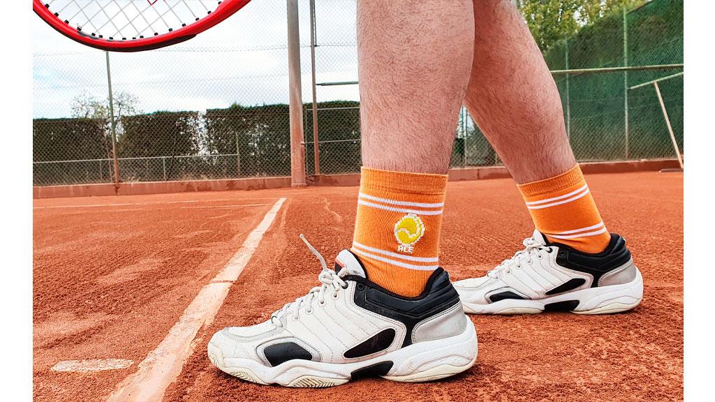 Calcetín Naranja Tenis