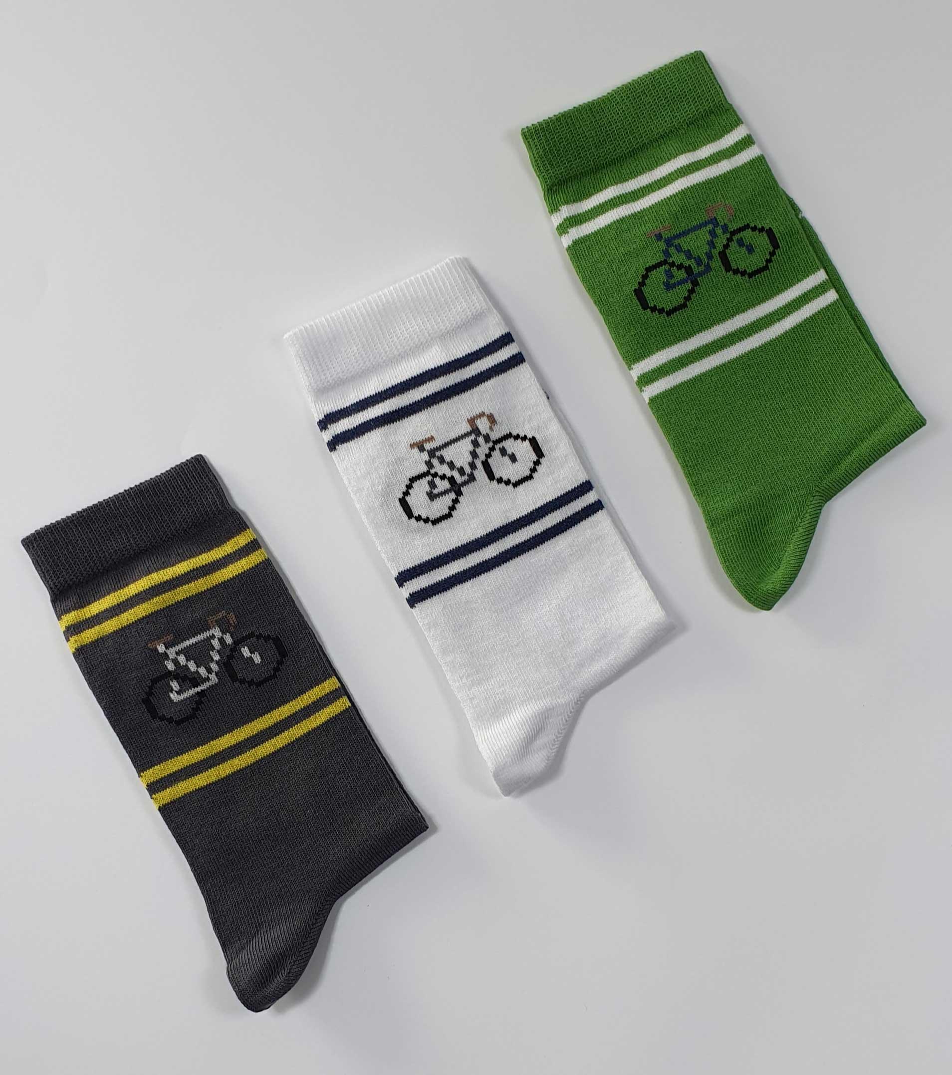 calcetines estampados bici