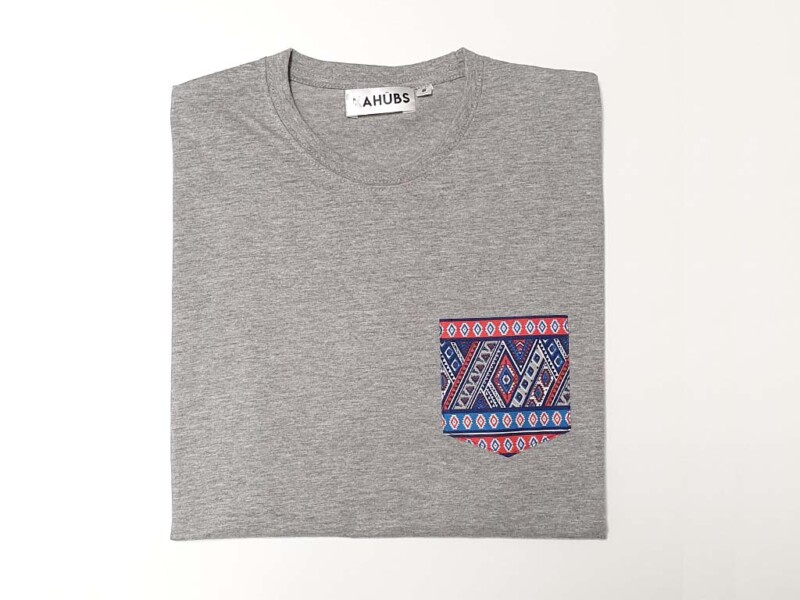Camiseta Gris Bolsillo