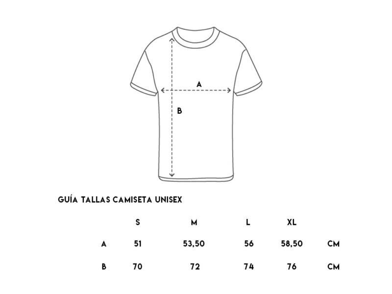 Guía Tallas Camiseta Unisex