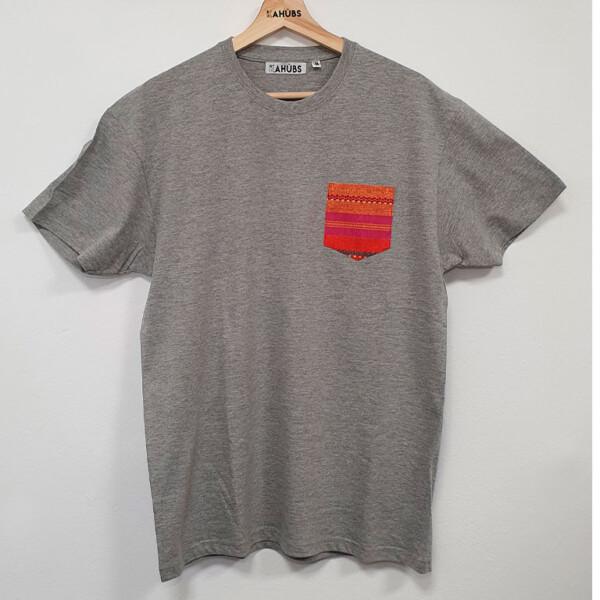 Camiseta Gris Con Bolsillo